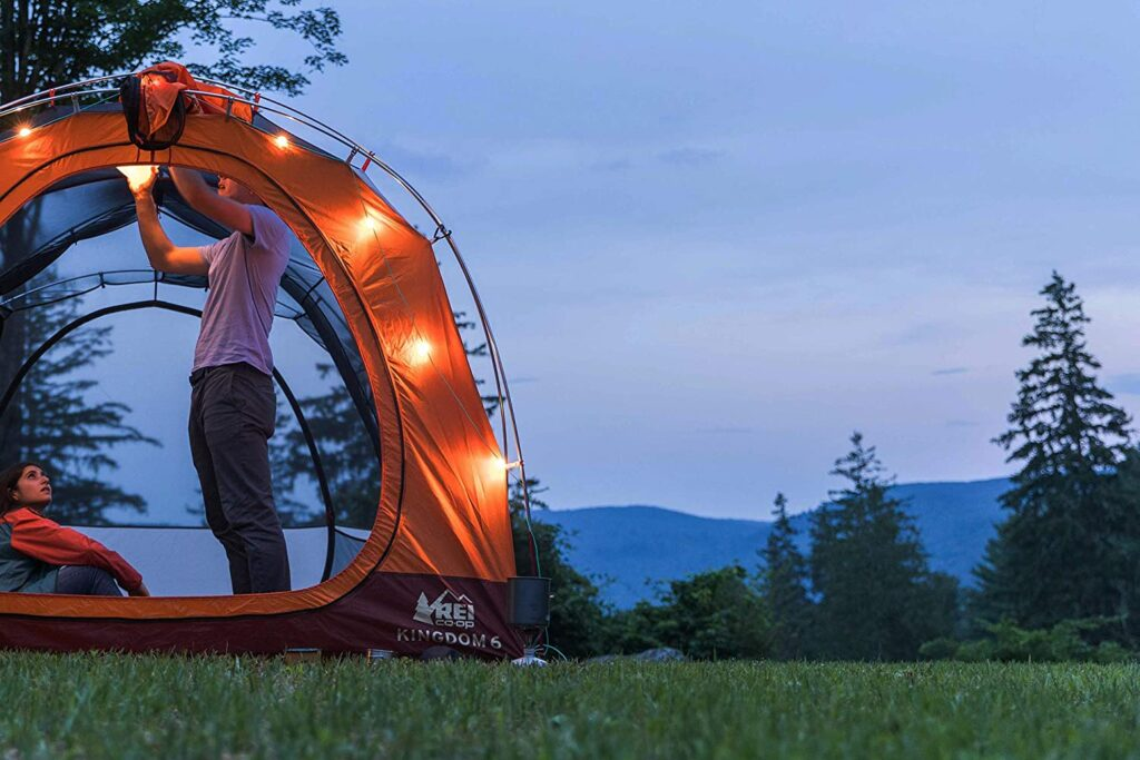 solar camping string lights